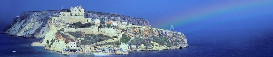 Isole Tremiti, arcobaleno a San Nicola