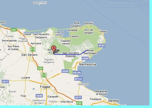 Cartina Geografica San Giovanni Rotondo.Escursioni A San Giovanni Rotondo E Monte Sant Angelo Hotels Gargano